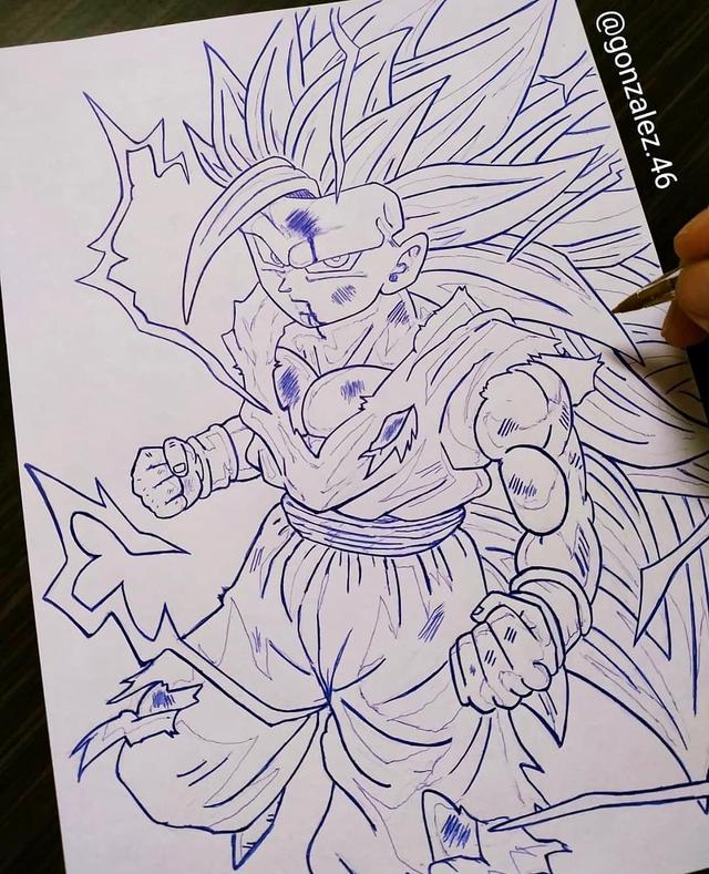 Mãn nhãn khi ngắm loạt ảnh vẽ lại các nhân vật trong Dragon Ball bằng bút bi - Ảnh 20.