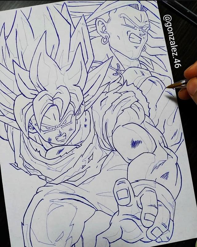 Mãn nhãn khi ngắm loạt ảnh vẽ lại các nhân vật trong Dragon Ball bằng bút bi - Ảnh 21.
