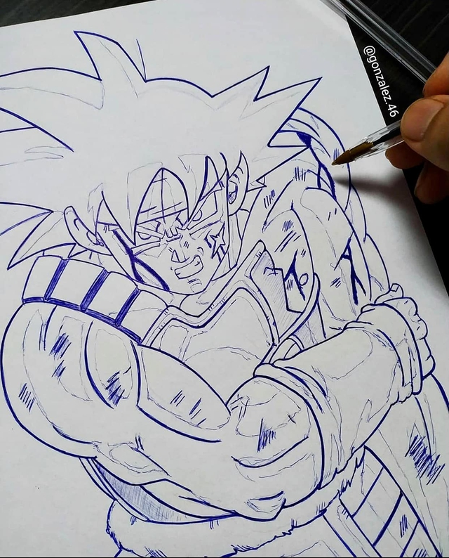 Mãn nhãn khi ngắm loạt ảnh vẽ lại các nhân vật trong Dragon Ball bằng bút bi - Ảnh 23.