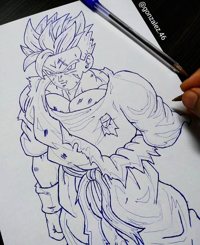 Mãn nhãn khi ngắm loạt ảnh vẽ lại các nhân vật trong Dragon Ball bằng bút bi - Ảnh 24.
