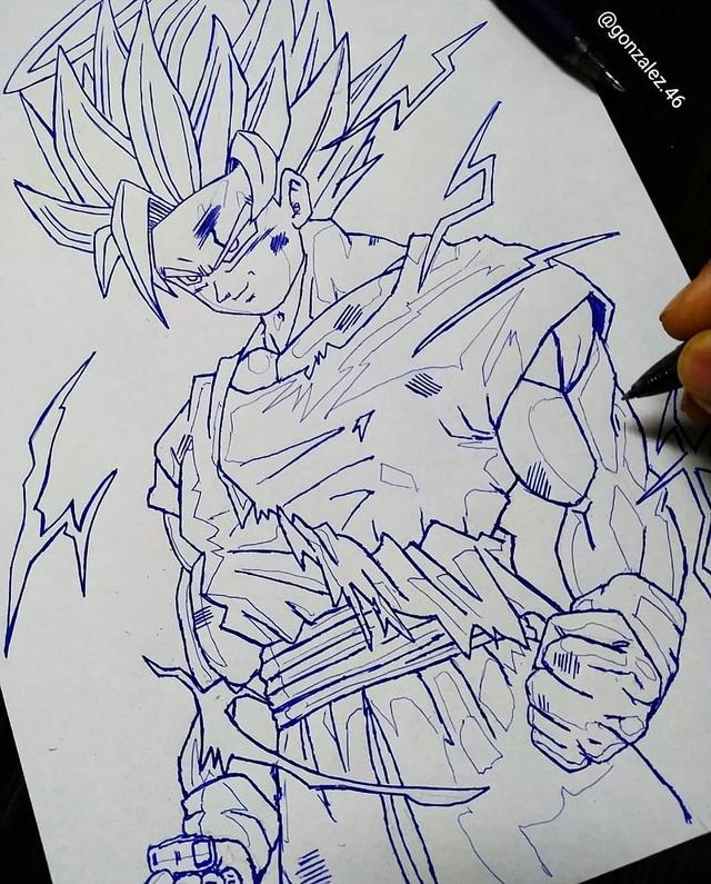 Mãn nhãn khi ngắm loạt ảnh vẽ lại các nhân vật trong Dragon Ball bằng bút bi - Ảnh 28.