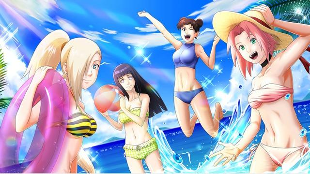 Không được đi tắm biển thì ngồi nhà ngắm dàn mỹ nhân trong Naruto diện bikini cũng đủ sướng con mắt - Ảnh 2.