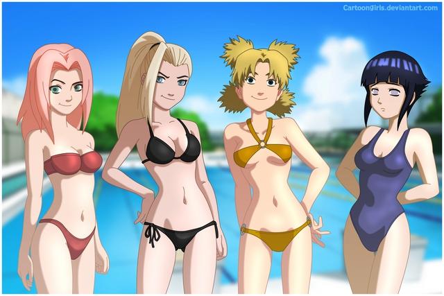 Không được đi tắm biển thì ngồi nhà ngắm dàn mỹ nhân trong Naruto diện bikini cũng đủ sướng con mắt - Ảnh 4.