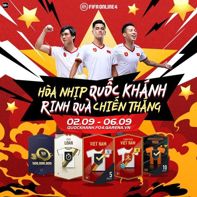 FIFA Online 4 tung sự kiện mừng Quốc Khánh cực HOT: Nhân đôi lượt mở quà, 100% sở hữu free thẻ Việt Nam +8 và Mùa ICONS - Ảnh 1.