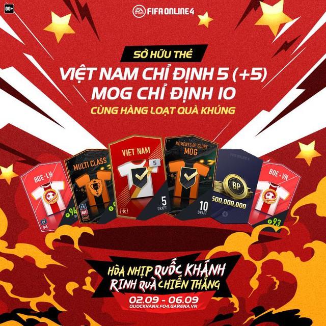 FIFA Online 4 tung sự kiện mừng Quốc Khánh cực HOT: Nhân đôi lượt mở quà, 100% sở hữu free thẻ Việt Nam +8 và Mùa ICONS - Ảnh 3.