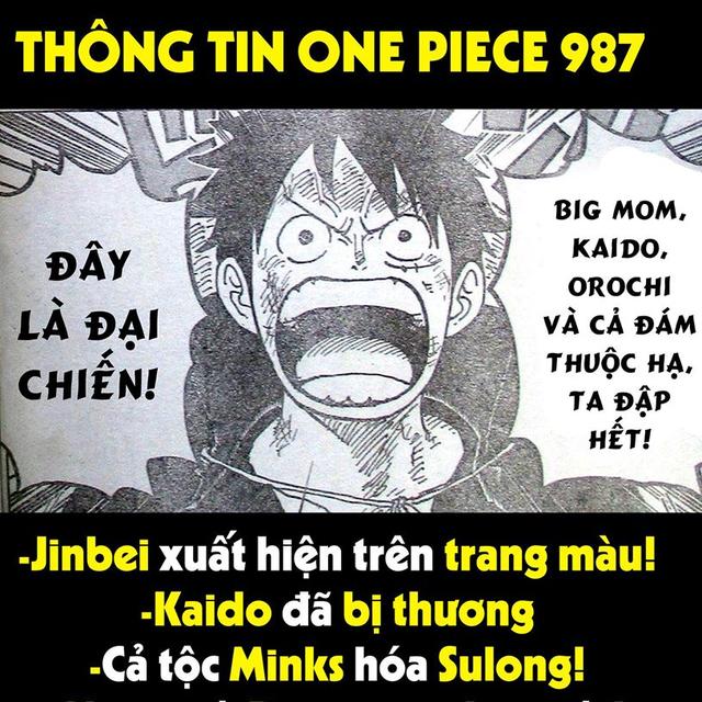 One Piece 987: Big Mom lợi dụng Luffy để đánh bại Kaido, nhưng Luffy Mũ Rơm tuyên bố ta đây đập hết - Ảnh 1.
