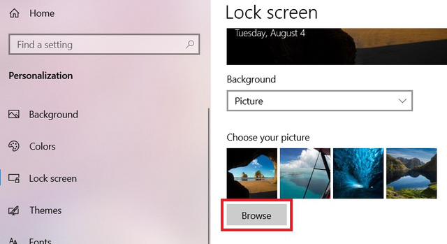5 interesting things you can do with the Lock Screen screen on Windows 10 - Photo 3.