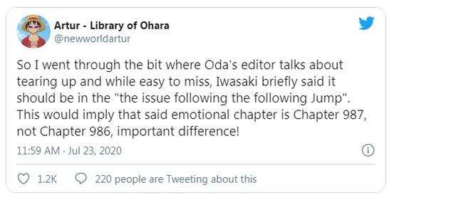 One Piece: Sự thật đằng sau biến cố lớn khiến biên tập viên phải bật khóc hóa ra chỉ là một sự nhầm lẫn - Ảnh 2.