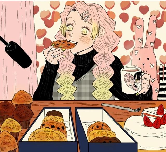 Ngay cả khi ăn Mitsuri vẫn vô cùng đáng yêu