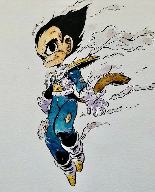 Giật mình khi thấy các nhân vật trong Dragon Ball được vẽ theo phong cách zombie - Ảnh 2.