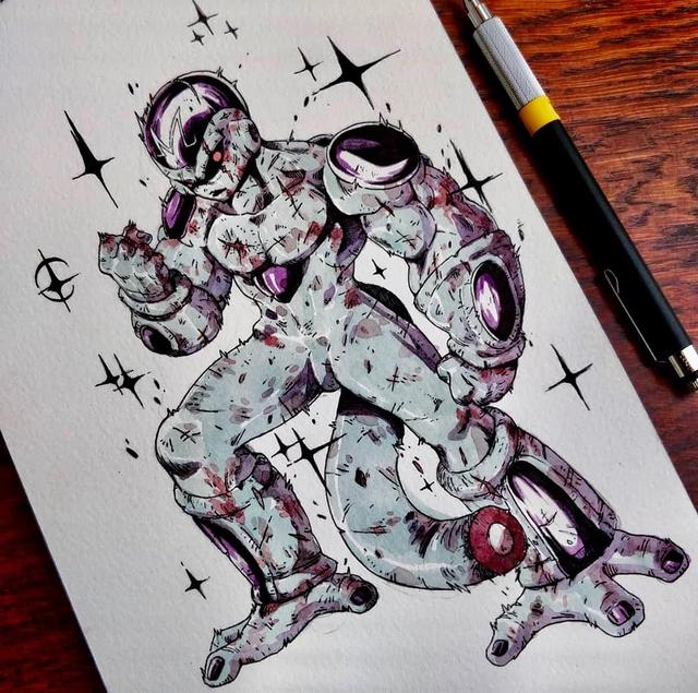 Giật mình khi thấy các nhân vật trong Dragon Ball được vẽ theo phong cách zombie - Ảnh 5.