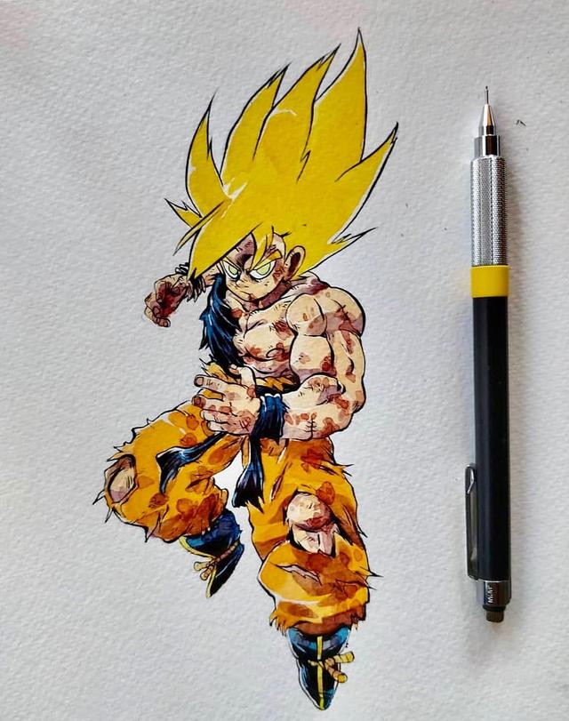 Giật mình khi thấy các nhân vật trong Dragon Ball được vẽ theo phong cách zombie - Ảnh 6.