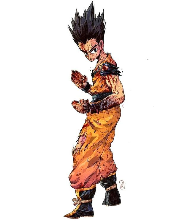 Giật mình khi thấy các nhân vật trong Dragon Ball được vẽ theo phong cách zombie - Ảnh 10.
