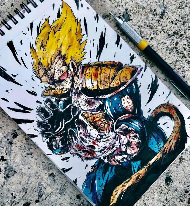 Giật mình khi thấy các nhân vật trong Dragon Ball được vẽ theo phong cách zombie - Ảnh 11.