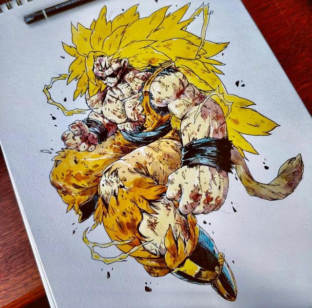 Giật mình khi thấy các nhân vật trong Dragon Ball được vẽ theo phong cách zombie - Ảnh 12.