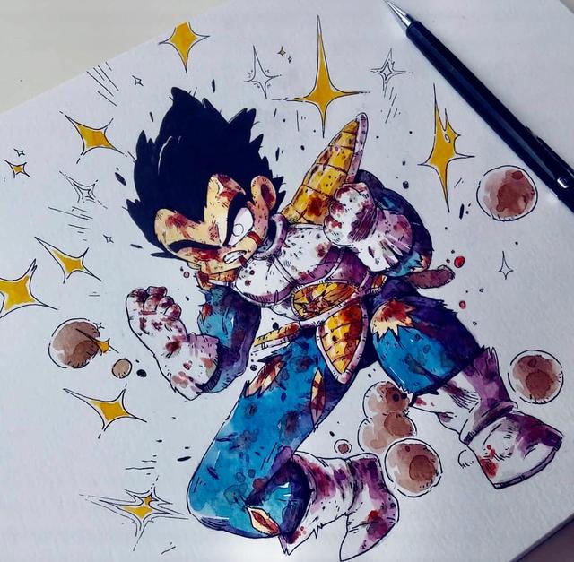 Giật mình khi thấy các nhân vật trong Dragon Ball được vẽ theo phong cách zombie - Ảnh 13.