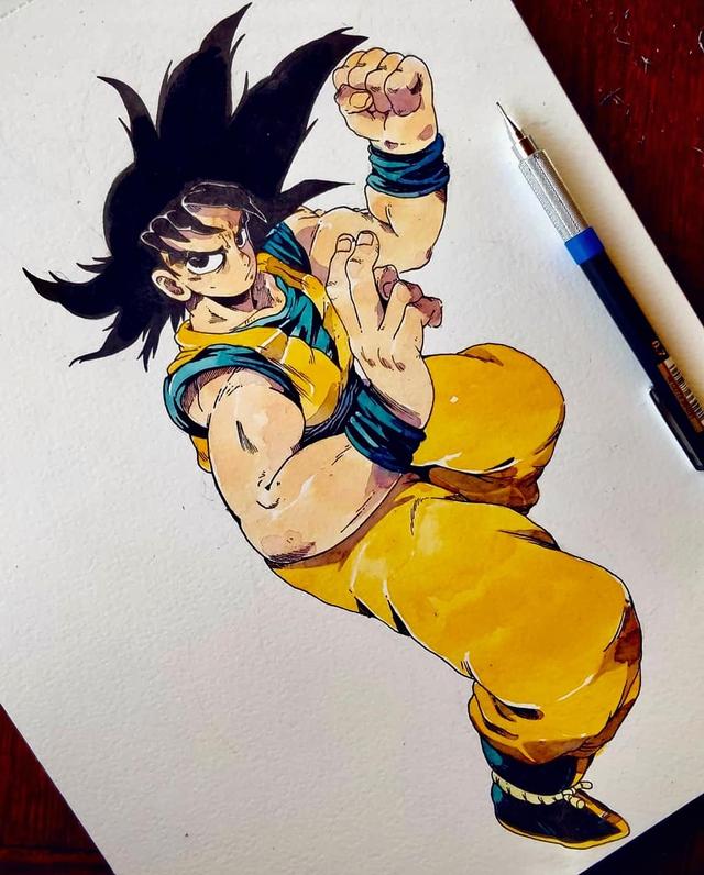 Giật mình khi thấy các nhân vật trong Dragon Ball được vẽ theo phong cách zombie - Ảnh 16.