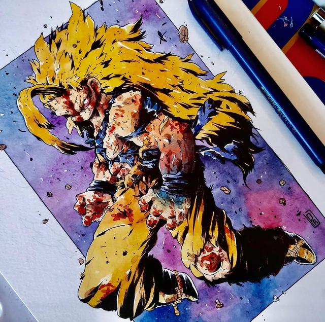 Giật mình khi thấy các nhân vật trong Dragon Ball được vẽ theo phong cách zombie - Ảnh 17.