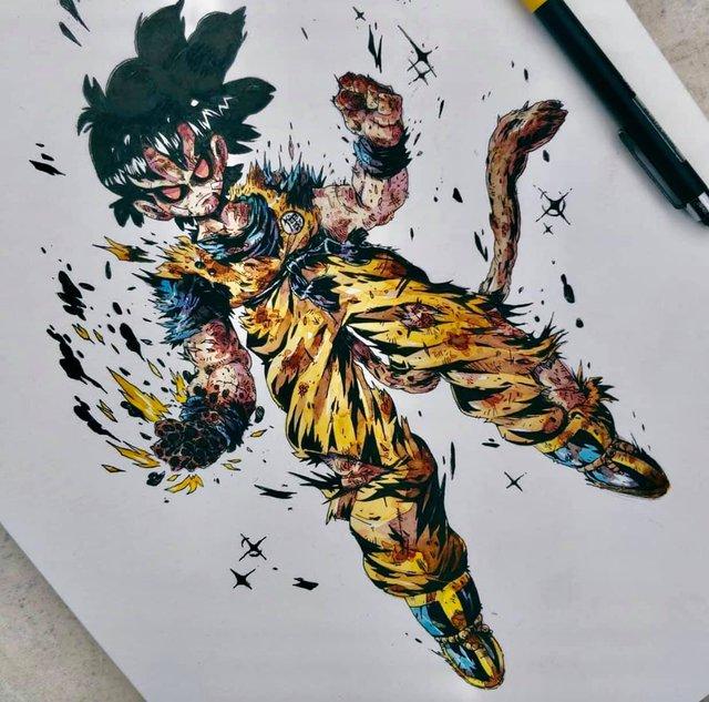 Giật mình khi thấy các nhân vật trong Dragon Ball được vẽ theo phong cách zombie - Ảnh 21.