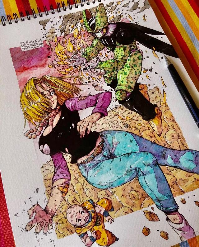 Giật mình khi thấy các nhân vật trong Dragon Ball được vẽ theo phong cách zombie - Ảnh 24.