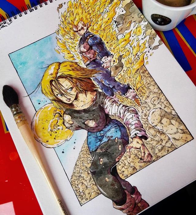 Giật mình khi thấy các nhân vật trong Dragon Ball được vẽ theo phong cách zombie - Ảnh 25.