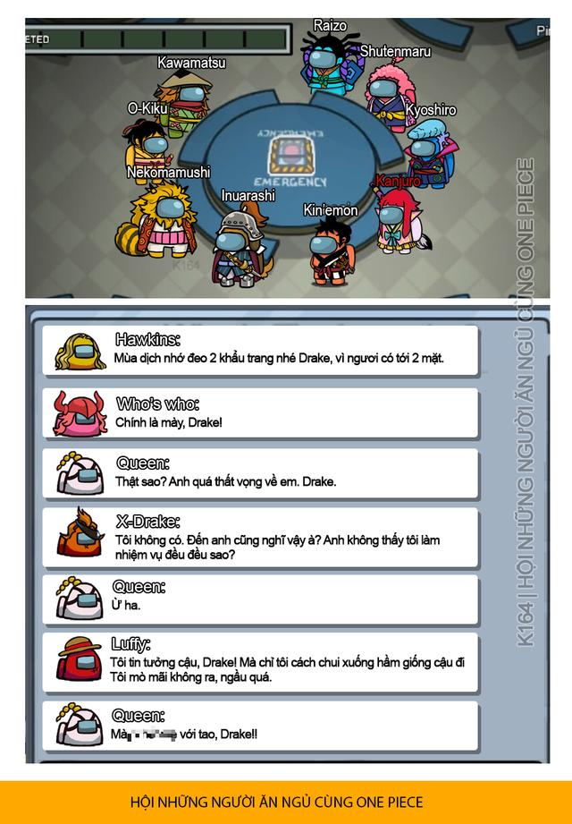 One Piece: Bá đạo với loạt ảnh trận chiến Wano quốc mang phong cách tựa game Among Us - Ảnh 3.
