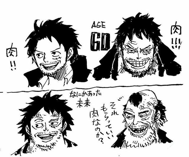 One Piece: Phiên bản về già của 7 nhân vật nhiều fan yêu thích do chính tay Oda vẽ - Ảnh 1.