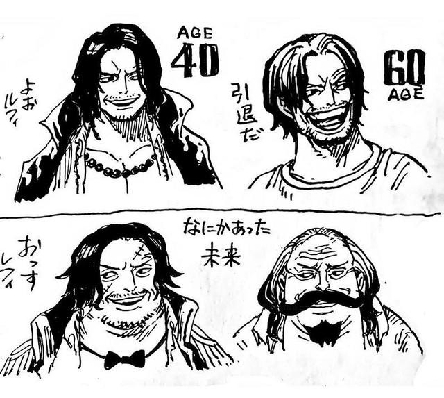 One Piece: Phiên bản về già của 7 nhân vật nhiều fan yêu thích do chính tay Oda vẽ - Ảnh 3.