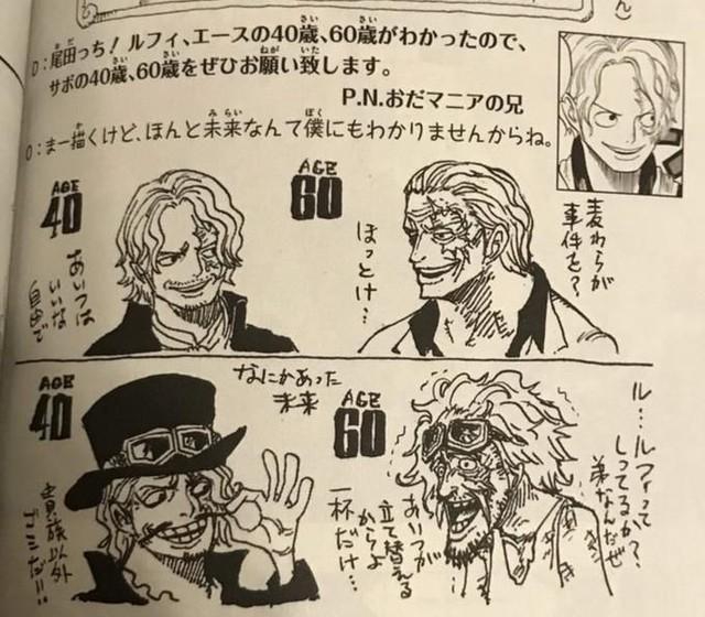 One Piece: Phiên bản về già của 7 nhân vật nhiều fan yêu thích do chính tay Oda vẽ - Ảnh 4.
