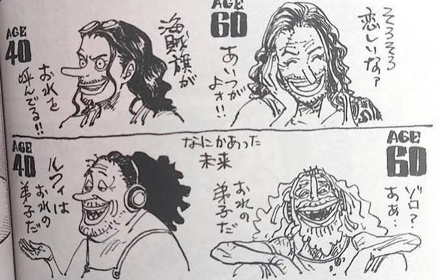 One Piece: Phiên bản về già của 7 nhân vật nhiều fan yêu thích do chính tay Oda vẽ - Ảnh 5.