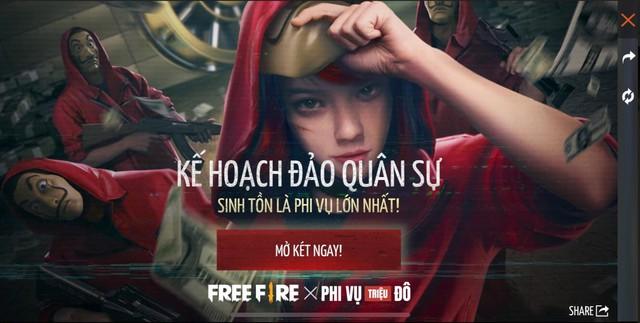 Free Fire và phi vụ Triệu Đô: Màn hợp tác hoành tráng với Series phim Money Heist - Ảnh 6.