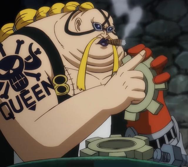 Thái độ của Queen hiện tại có vẻ như không quan tâm tới tổng đốc Kaido đang bị Cửu Hồng Bao vây đánh