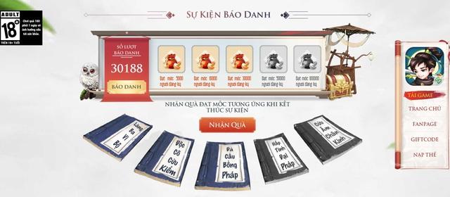 Mở trang báo danh, Giang Hồ Sinh Tử Lệnh vượt mốc 30000 người đăng ký, chiếm hết spotlight của làng game thẻ tướng Kim Dung - Ảnh 2.