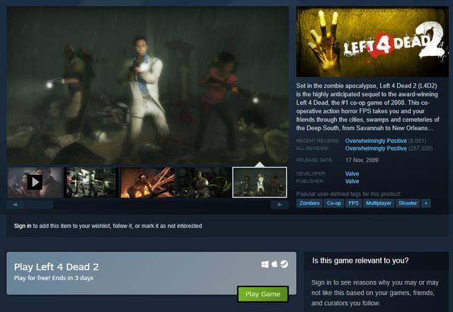 Link tải Left 4 Dead 2 bản quyền miễn phí trên Steam - Ảnh 1.