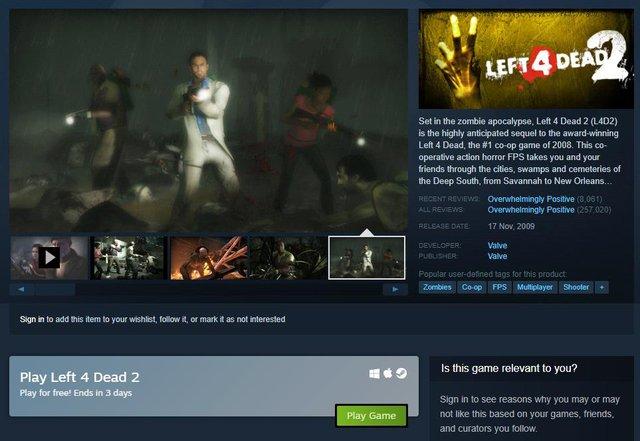 Có bản cập nhật sau 9 năm, Left 4 Dead 2 bất ngờ hồi sinh, lọt top game hot nhất trên Steam - Ảnh 3.