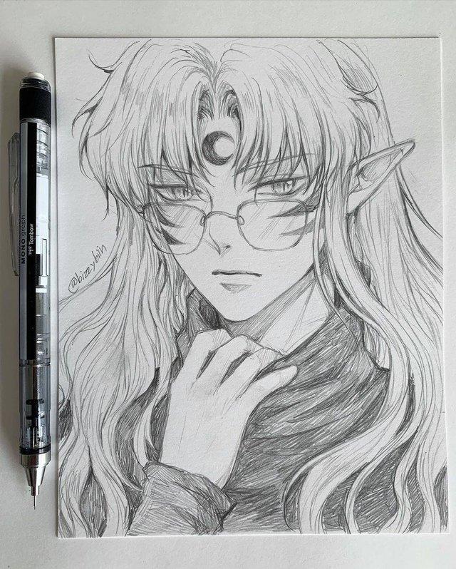 Loạt tranh vẽ tay đại yêu quái mỹ nam trong Inuyasha đẹp đến nỗi xem rồi không thể rời mắt - Ảnh 3.