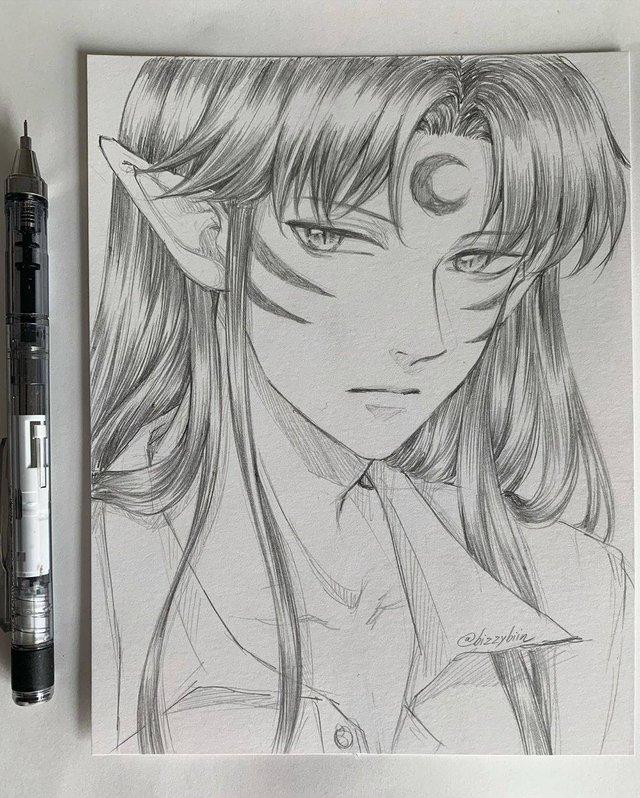 Loạt tranh vẽ tay đại yêu quái mỹ nam trong Inuyasha đẹp đến nỗi xem rồi không thể rời mắt - Ảnh 4.