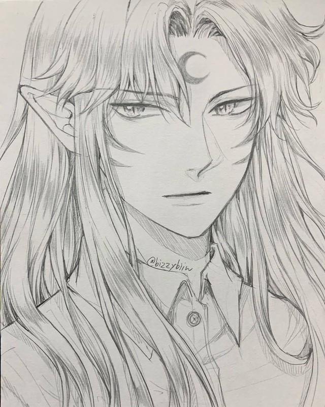 Loạt tranh vẽ tay đại yêu quái mỹ nam trong Inuyasha đẹp đến nỗi xem rồi không thể rời mắt - Ảnh 5.