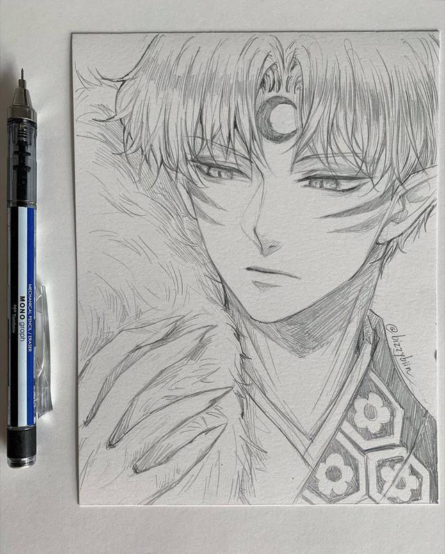 Loạt tranh vẽ tay đại yêu quái mỹ nam trong Inuyasha đẹp đến nỗi xem rồi không thể rời mắt - Ảnh 6.