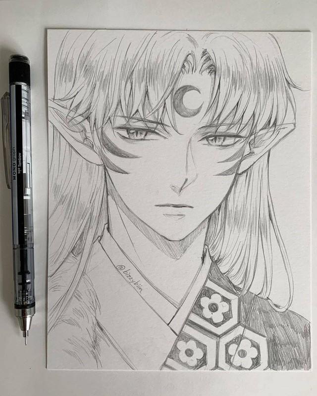 Loạt tranh vẽ tay đại yêu quái mỹ nam trong Inuyasha đẹp đến nỗi xem rồi không thể rời mắt - Ảnh 7.