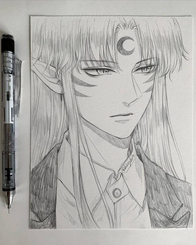 Loạt tranh vẽ tay đại yêu quái mỹ nam trong Inuyasha đẹp đến nỗi xem rồi không thể rời mắt - Ảnh 8.