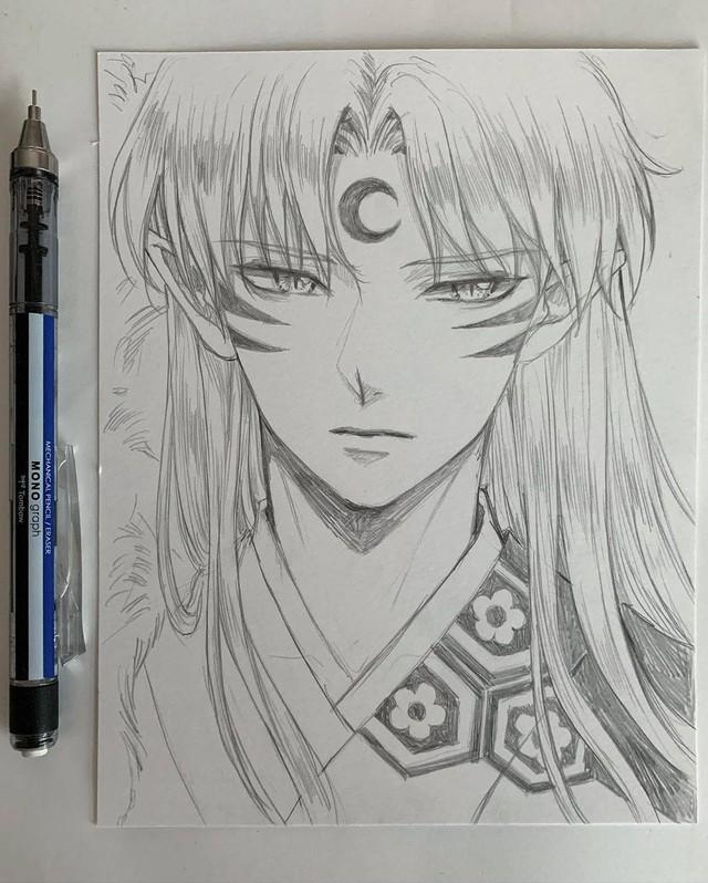 Loạt tranh vẽ tay đại yêu quái mỹ nam trong Inuyasha đẹp đến nỗi xem rồi không thể rời mắt - Ảnh 10.