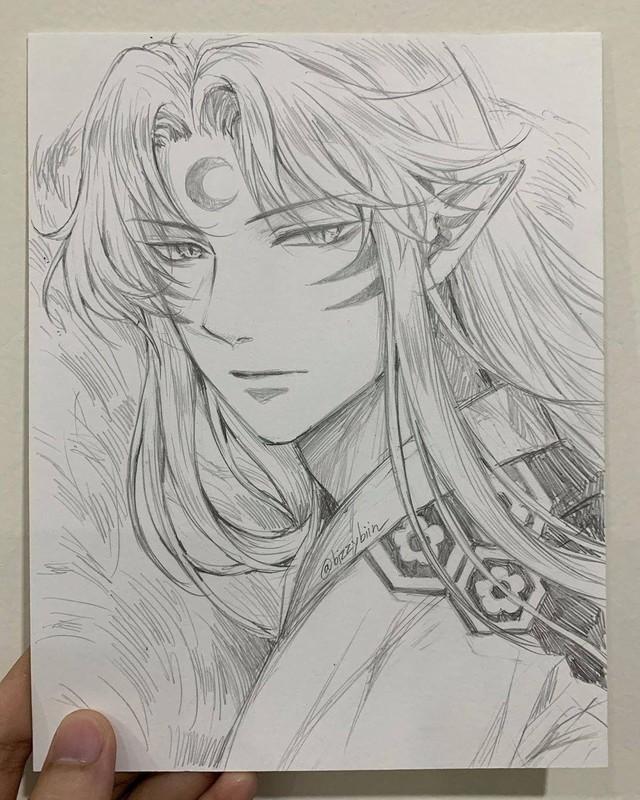 Loạt tranh vẽ tay đại yêu quái mỹ nam trong Inuyasha đẹp đến nỗi xem rồi không thể rời mắt - Ảnh 11.