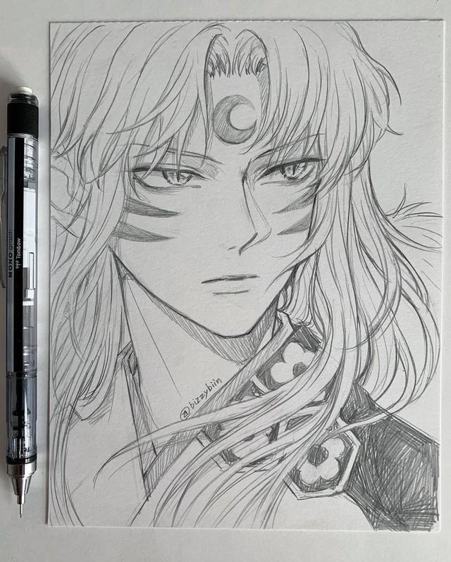 Loạt tranh vẽ tay đại yêu quái mỹ nam trong Inuyasha đẹp đến nỗi xem rồi không thể rời mắt - Ảnh 12.