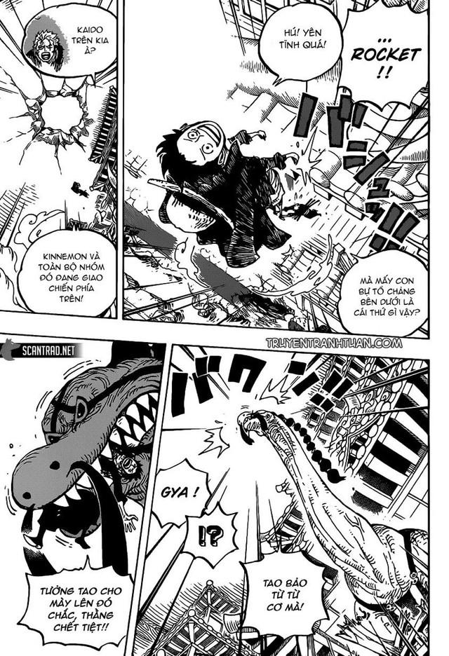 One Piece 989: Sau nhiều chap tấu hài, cuối cùng Queen cũng ra tay ngăn cản Luffy - Ảnh 3.
