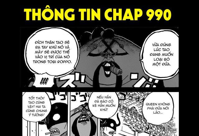 One Piece chap 990 tin chính thức: Kẻ mà Queen và Who Who muốn tiêu diệt chính là điệp vụ hải quân X-Drake - Ảnh 1.