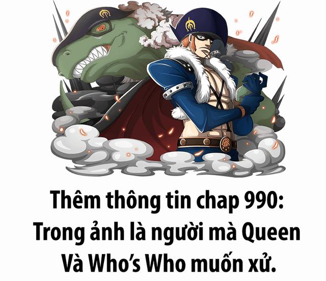 One Piece chap 990 tin chính thức: Kẻ mà Queen và Who Who muốn tiêu diệt chính là điệp vụ hải quân X-Drake - Ảnh 2.