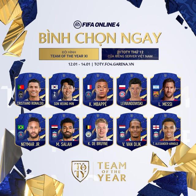 FIFA Online 4: Nhận ngay thẻ 21TOTY sớm nhất server với sự kiện bình chọn cho đội hình TEAM OF THE YEAR - Ảnh 1.