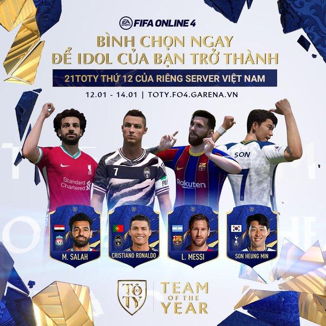 FIFA Online 4: Nhận ngay thẻ 21TOTY sớm nhất server với sự kiện bình chọn cho đội hình TEAM OF THE YEAR - Ảnh 5.