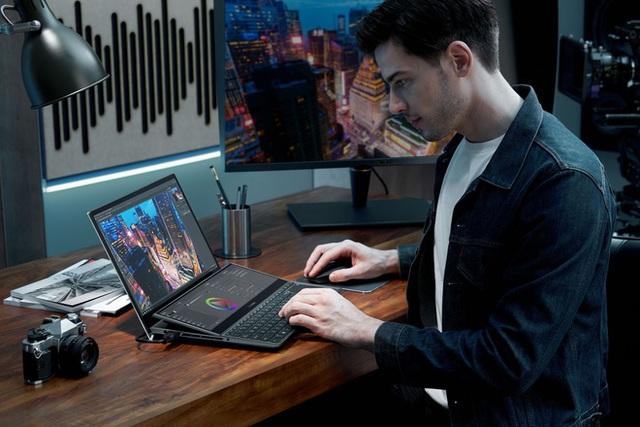 [CES 2021] Asus ra mắt hai mẫu ZenBook Duo mới với màn hình kép chất lừ, VivoBook và ExpertBook lột xác siêu nhẹ - Ảnh 1.